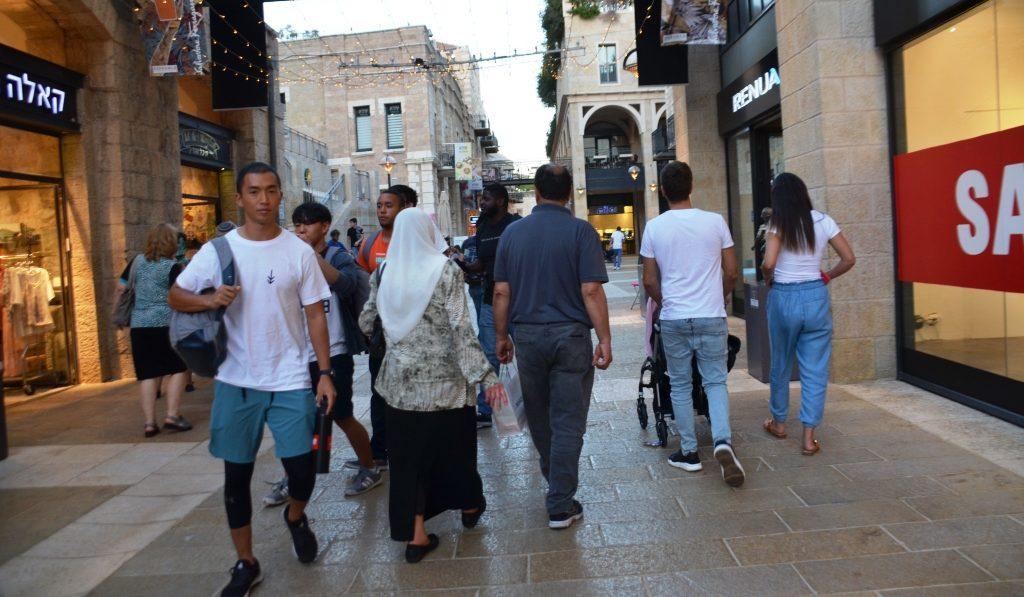 Jerusalem Israel Mamilla Mall diversity not apartheid