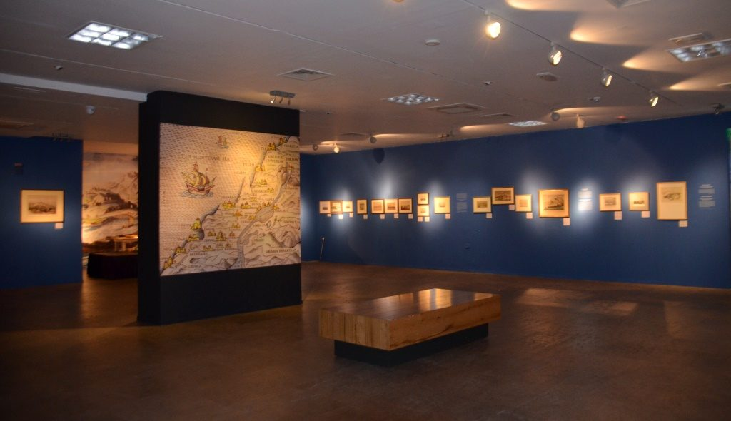 Bible Lands Museum Jerusalem exhibit on Ports 1800s
