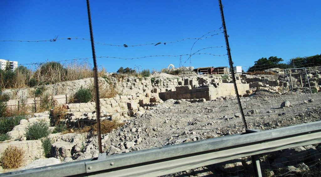 Archaeological dig in Beit Shemesh where new road was to go.