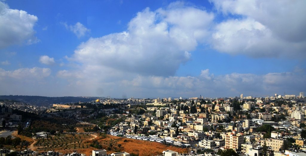 View of Jerusalem from Sifting project