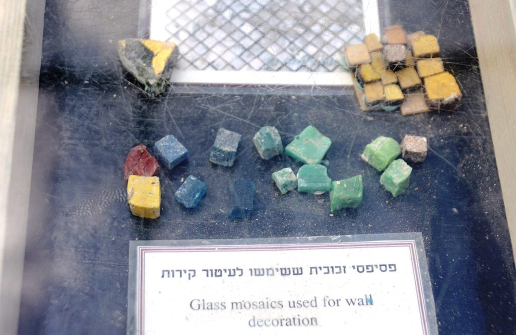 Stones found in the sifting project in Zurim Valley in Jerusalem
