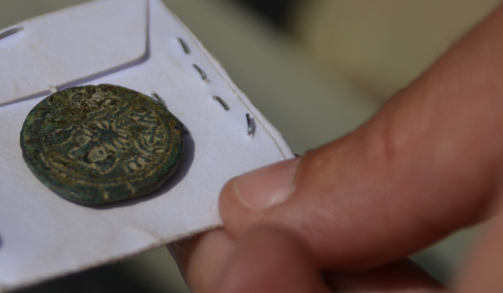 Ancient coin found in Sifting Project