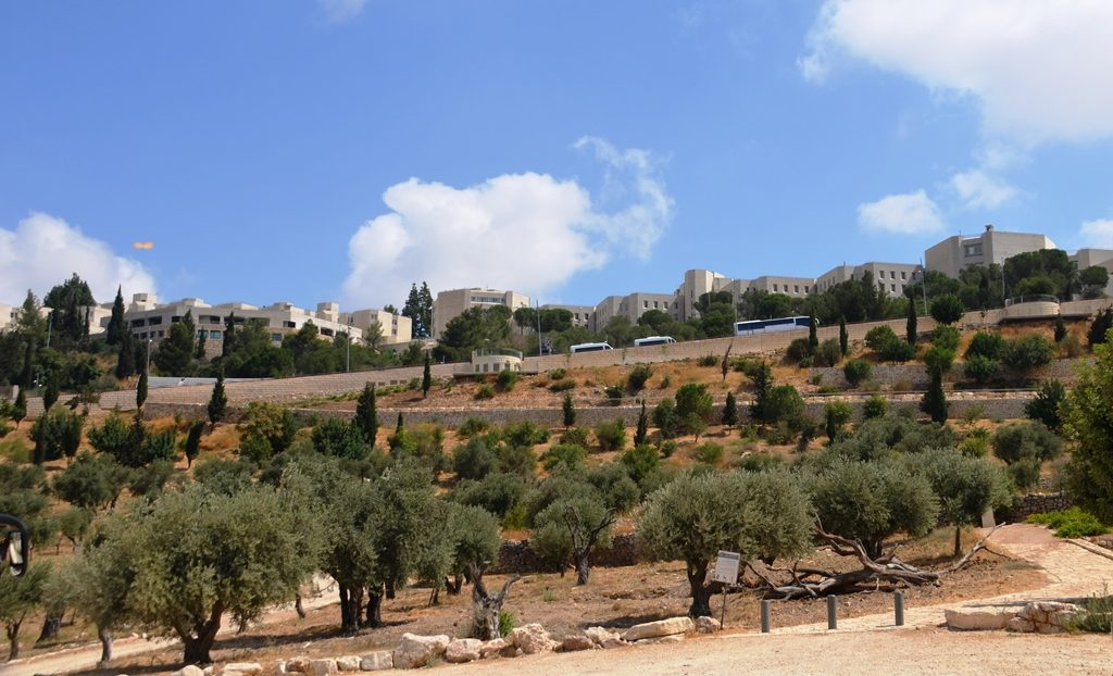 Jerusalem Israel Sifting project view to Mt Scopus