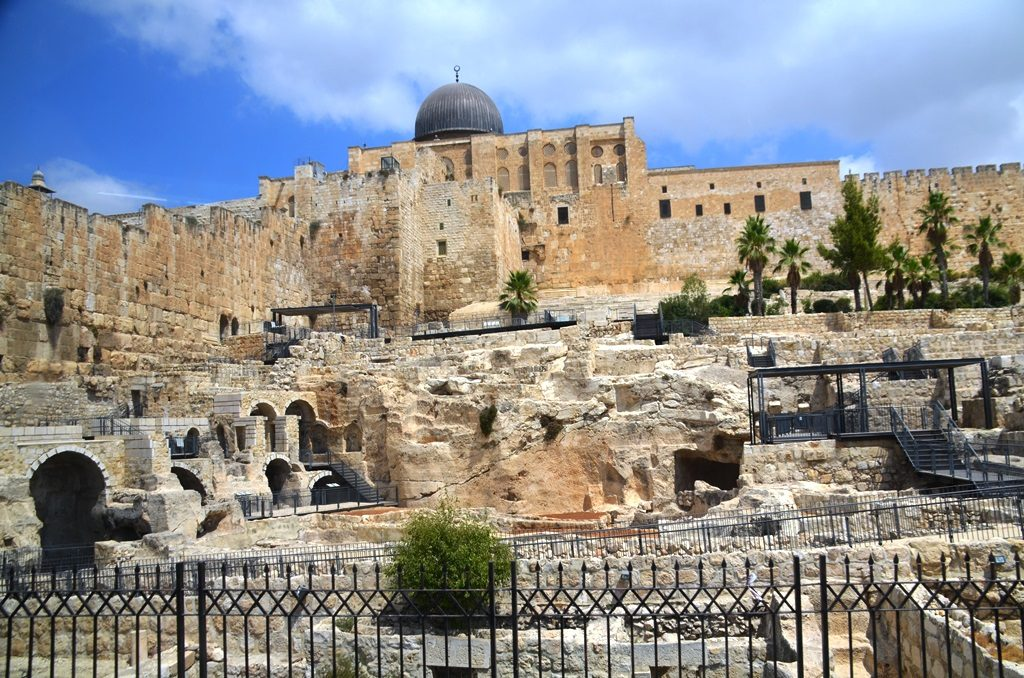 View of southern excavations old City Jerusalem
