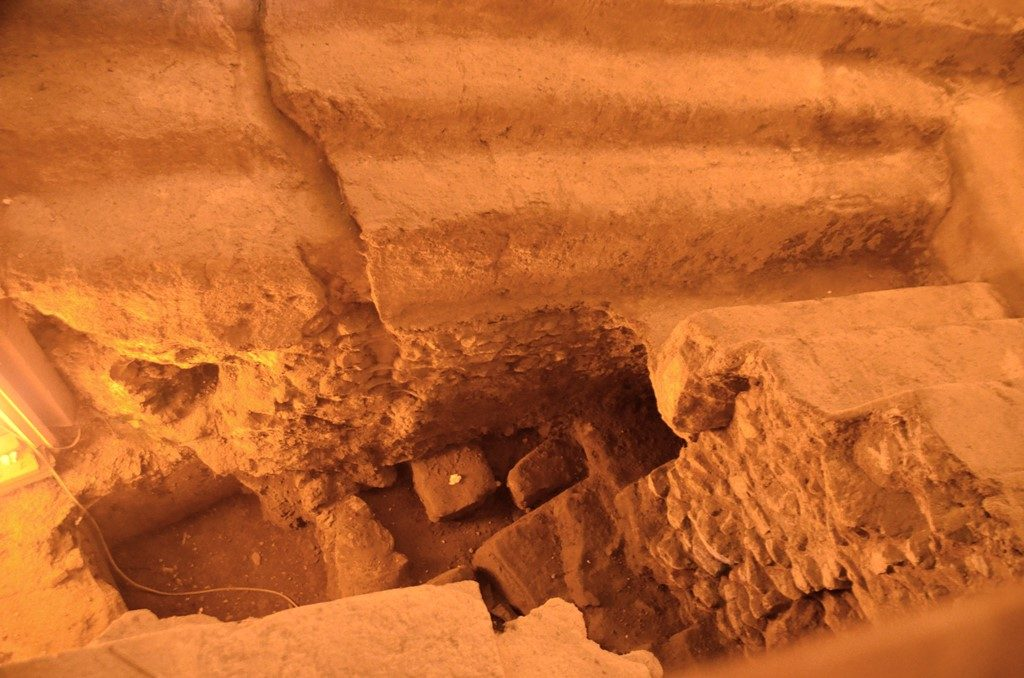 Jerusalem Israel under ground archaeological discoveries