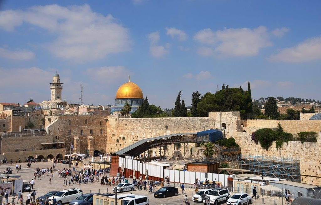 Jerusalem Western Wall plaza view