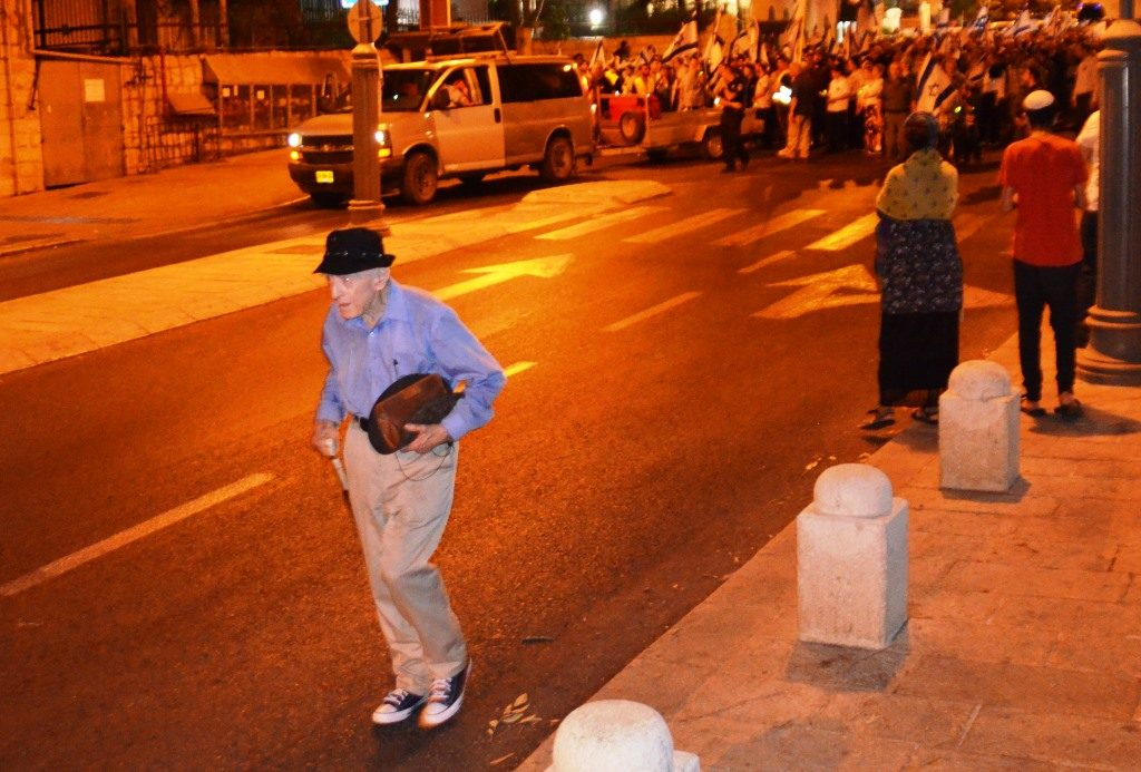 Jerusalem Israel Tisha B'Av old man walking