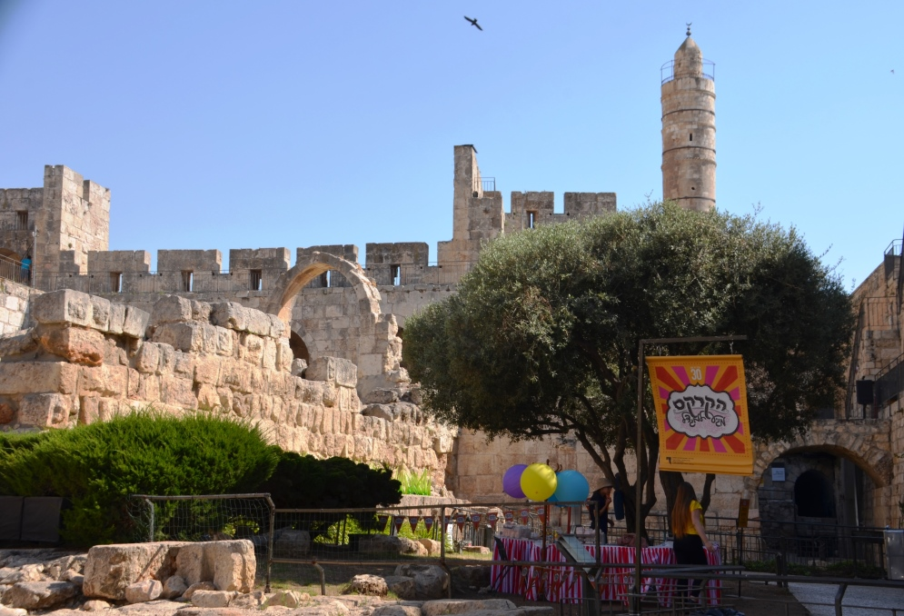Jerusalem Tower of David end of summer event Circus