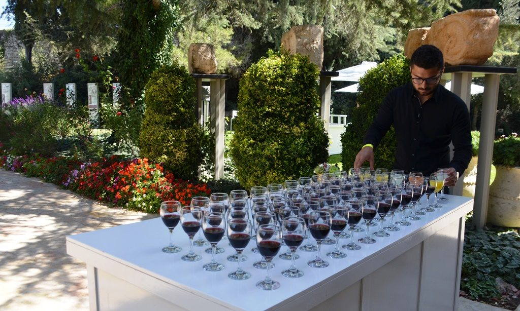 Wine for New Year's toast at Israeli Presidents house for diplomats