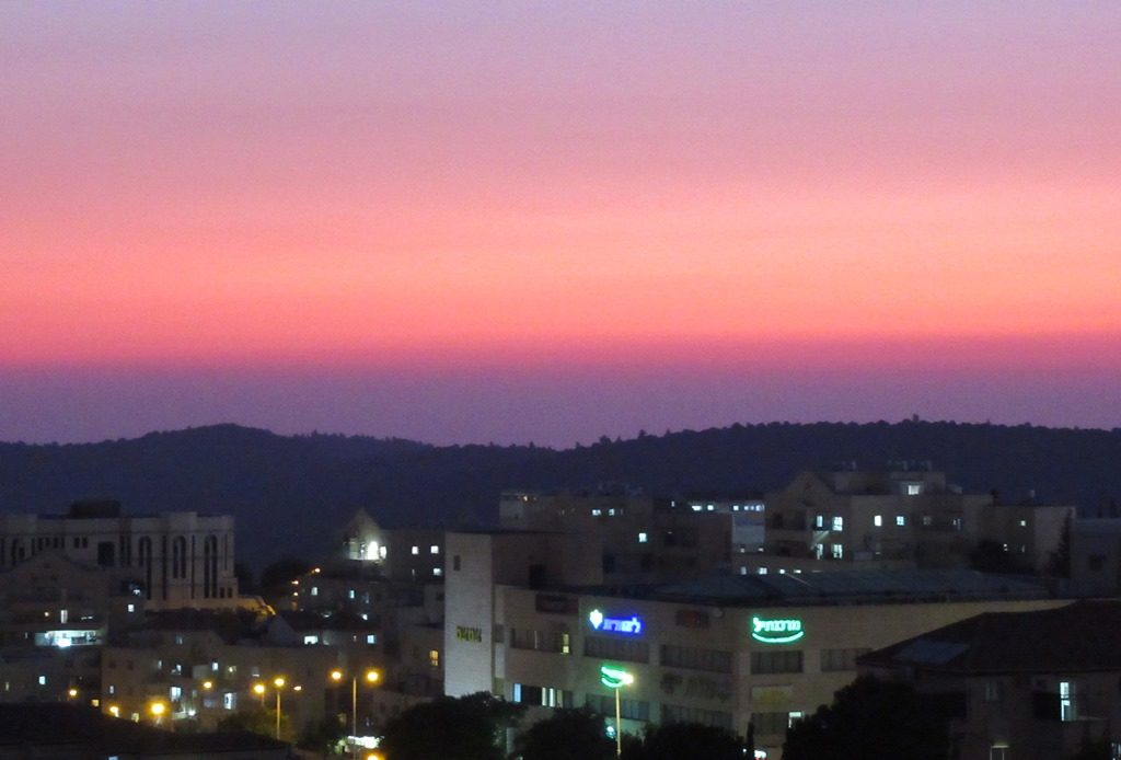 Colorful Israeli sunset