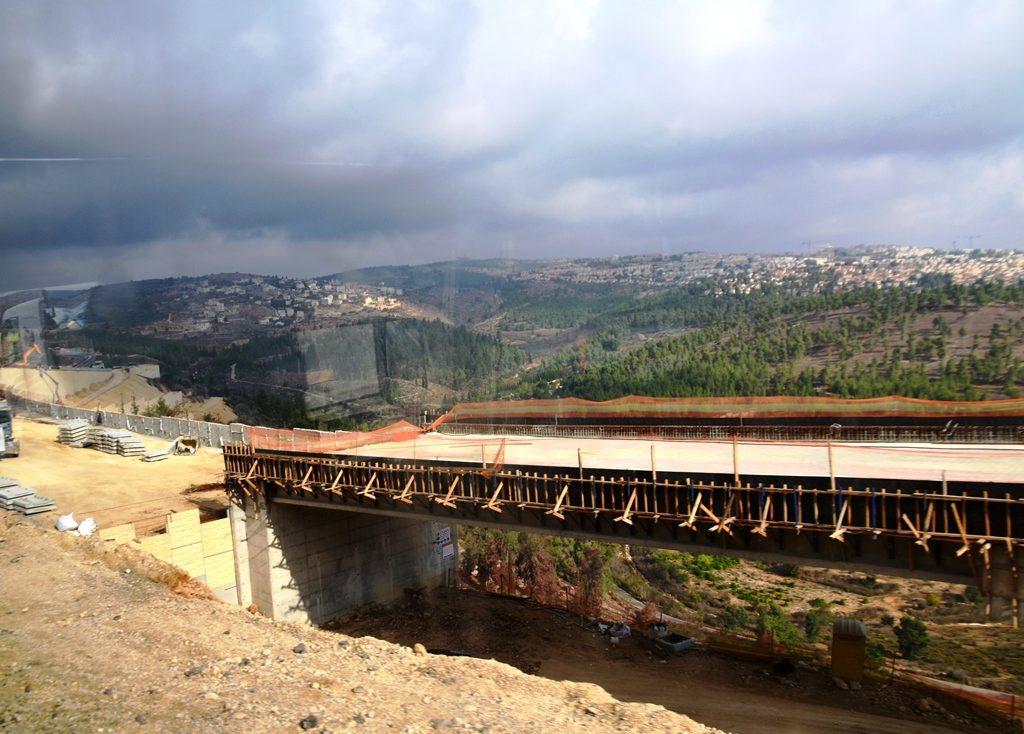 Road and rail construction near Jerusalem Israel