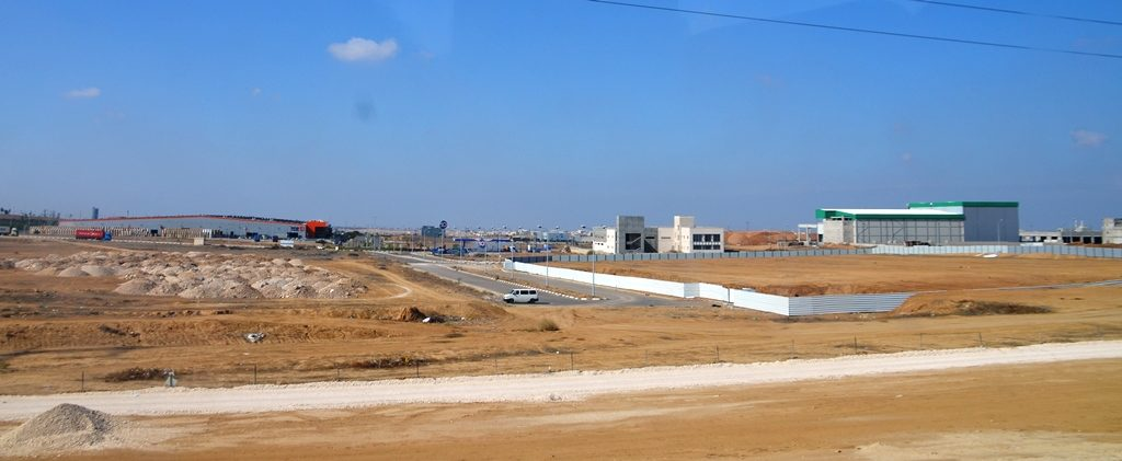 Industrial park near SodaStream factory in southern Israel