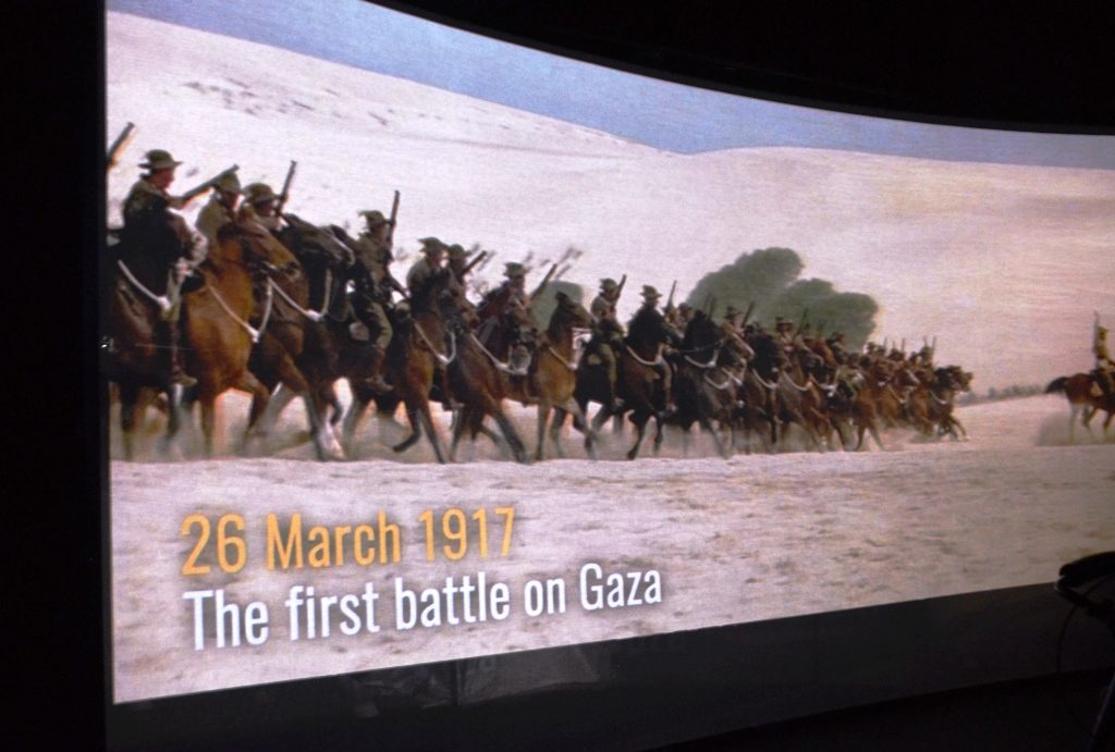 Scene from video in ANZAC Museum in Beer Sheva