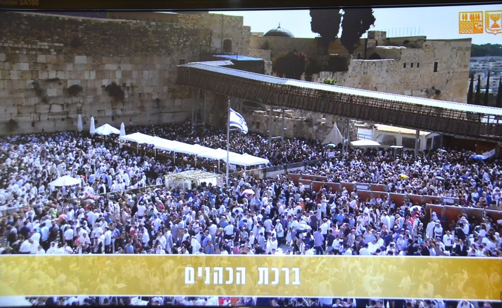 Sukkot birchat kohanim 5780 at Kotel