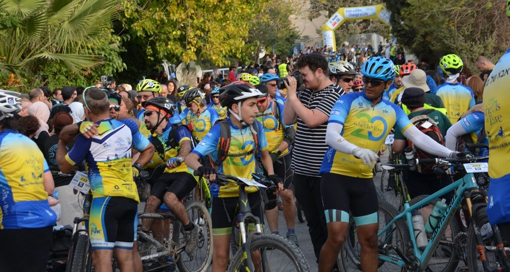 Wheels of Love riders arrive in Jerusalem Israel