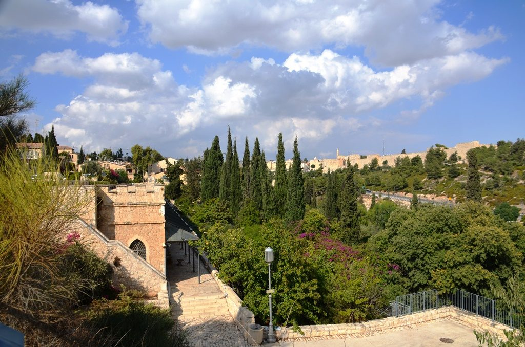 View of Old City Jerusalem from other side of Yemin Moshe