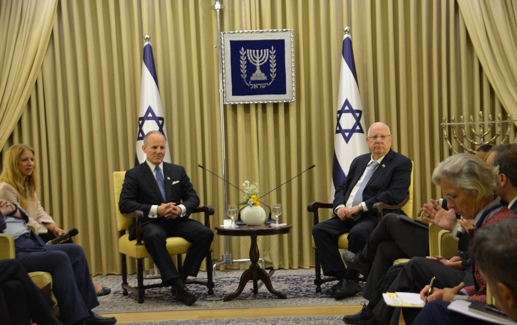 Elan Carr and President Rivlin at Beit Hanasi