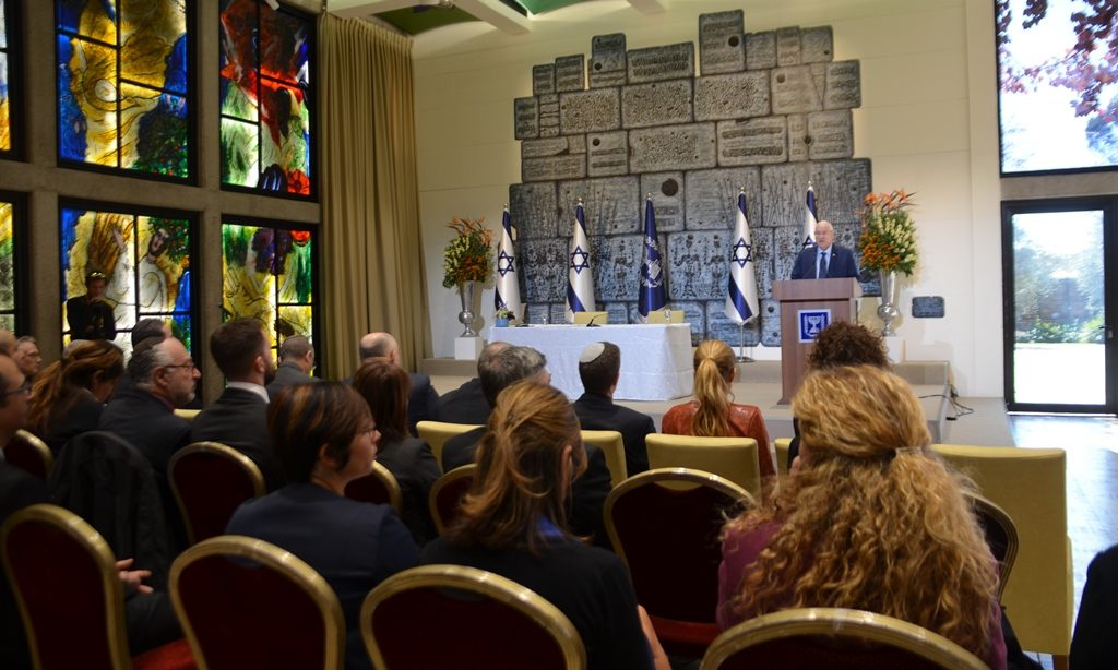 Israeli President hosts press conference for January Antisemitism conference at Yad Vashem