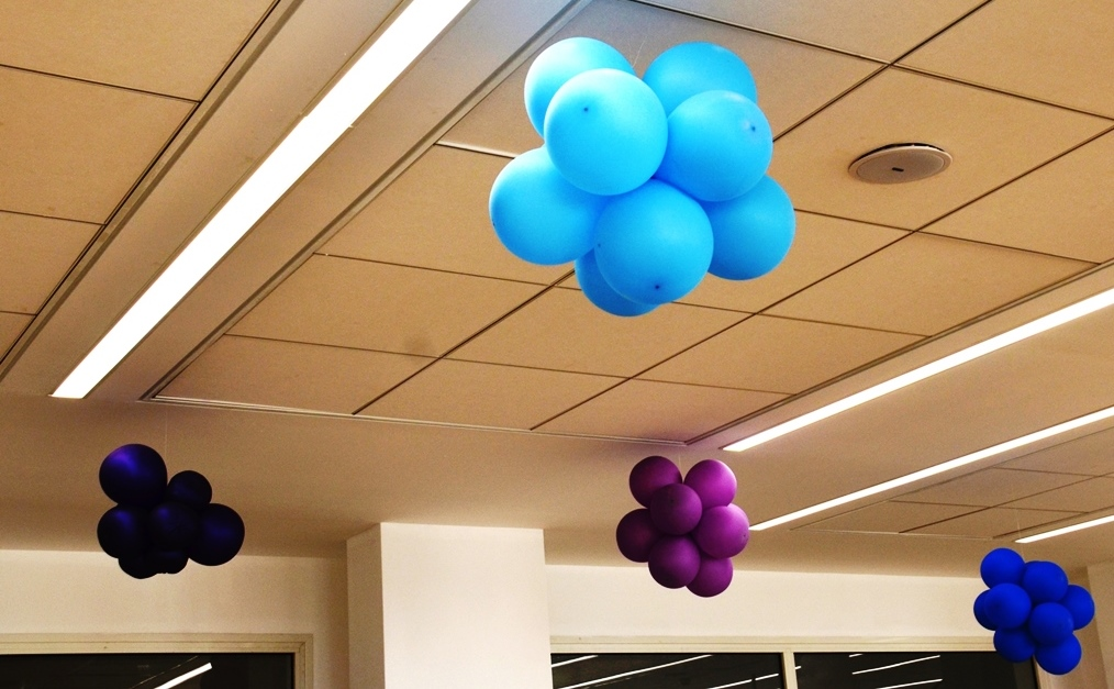 colorful balloons in Israeli school