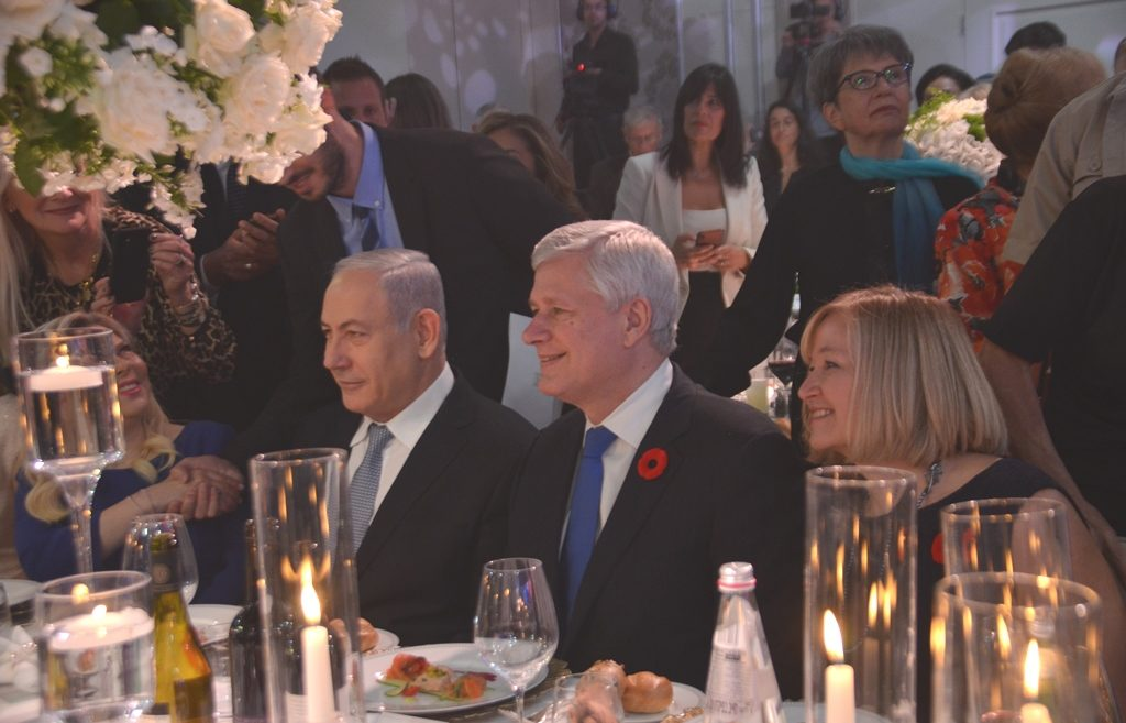 Stephen Harper in Jerusalem for gala dedication for Hula Lake Park Visitor Center
