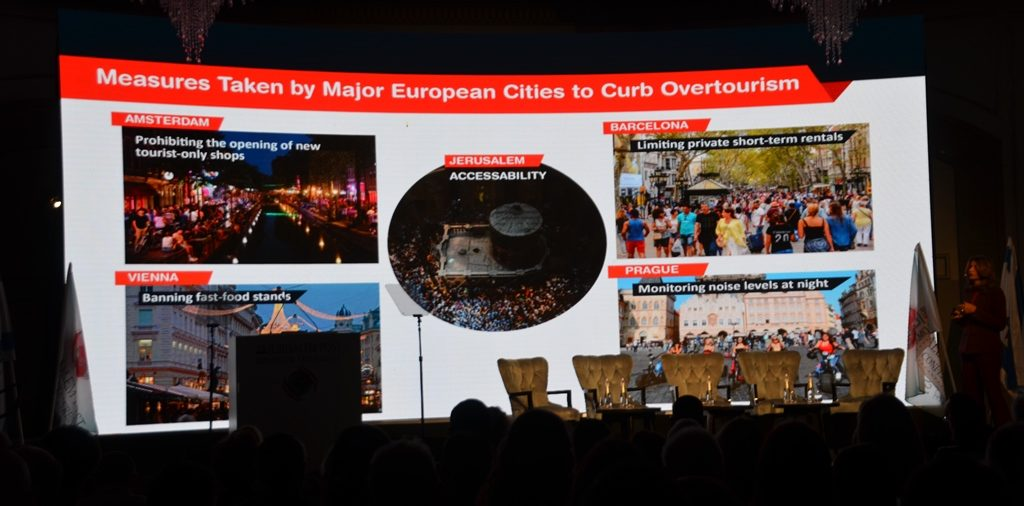 Ilanit Melchior with tourism sustainable slide of world cities.