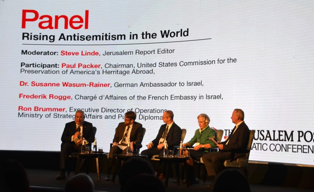 J Post diplomatic conference panel on world antisemitism