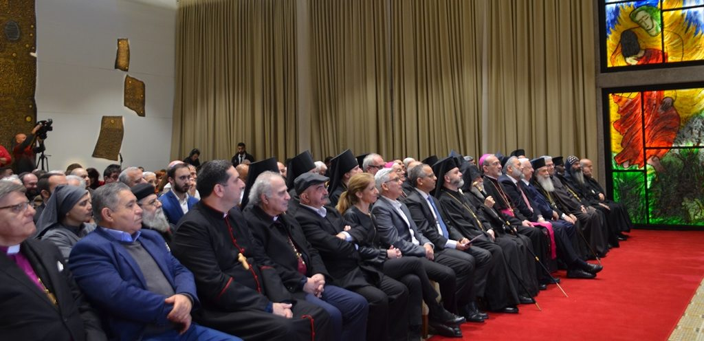 Christian leaders in Israel at Israeli President's Residence for annual New Year Reception