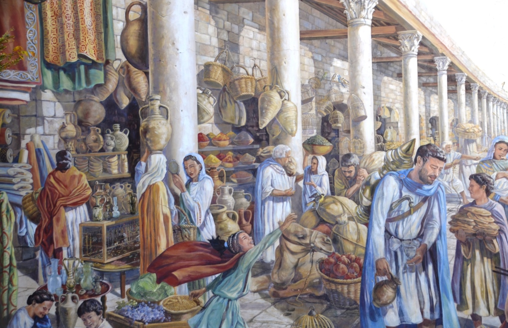 Scene of Jerusalem Cardo in time of Rome