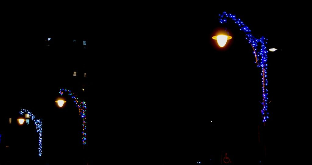 Jerusalem lights on Agron Street for Hanukkah