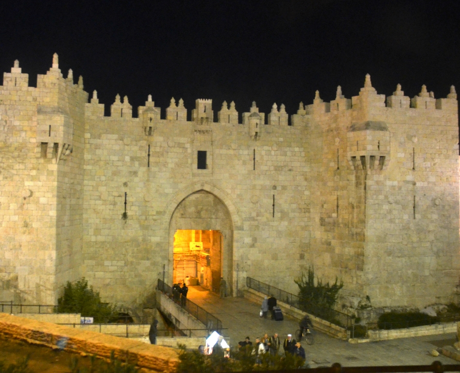 Damascus Gate at night of piano event in cave