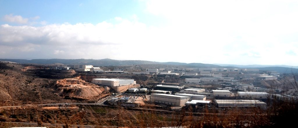 Ariel Industrial zone from Shomron road