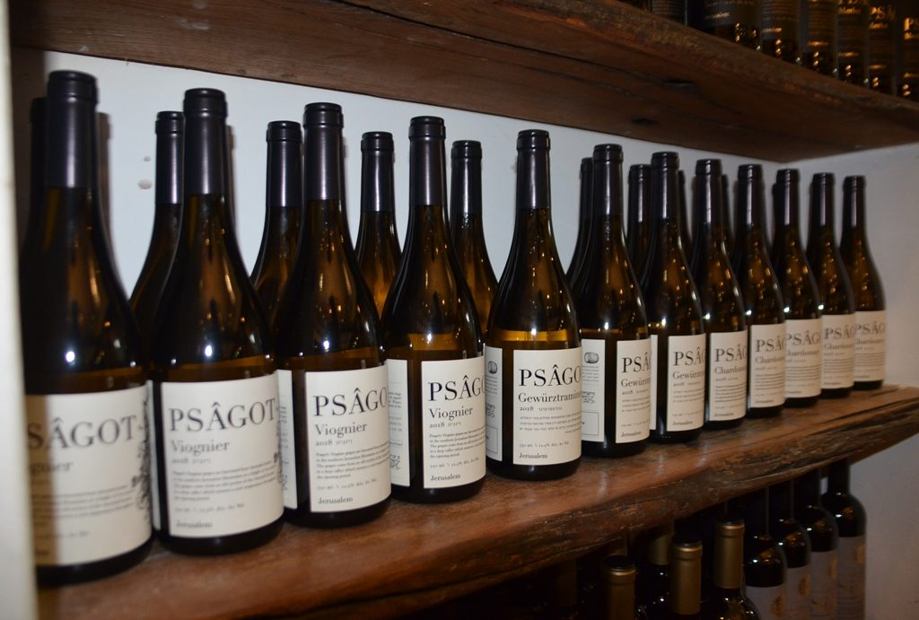 Psagot Wine bottles at Winery