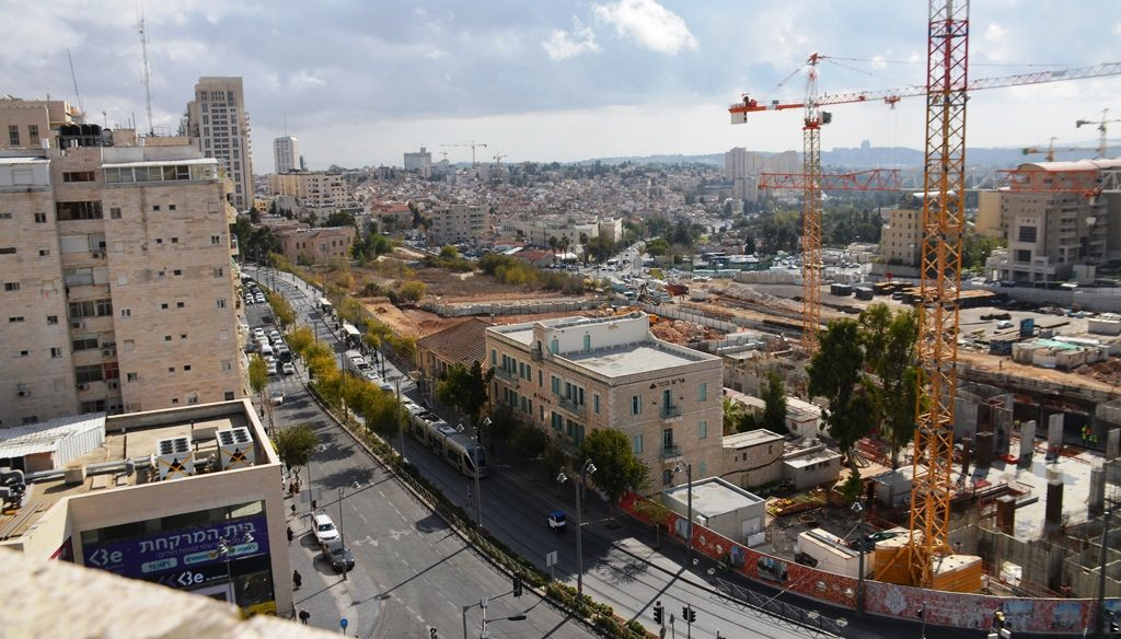Jerusalem Israel from above on Jaffa Road