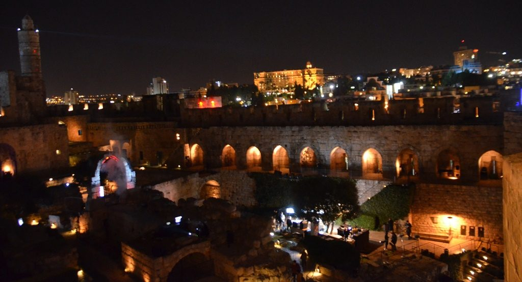 Digital art at the Tower of David in Jerusalem