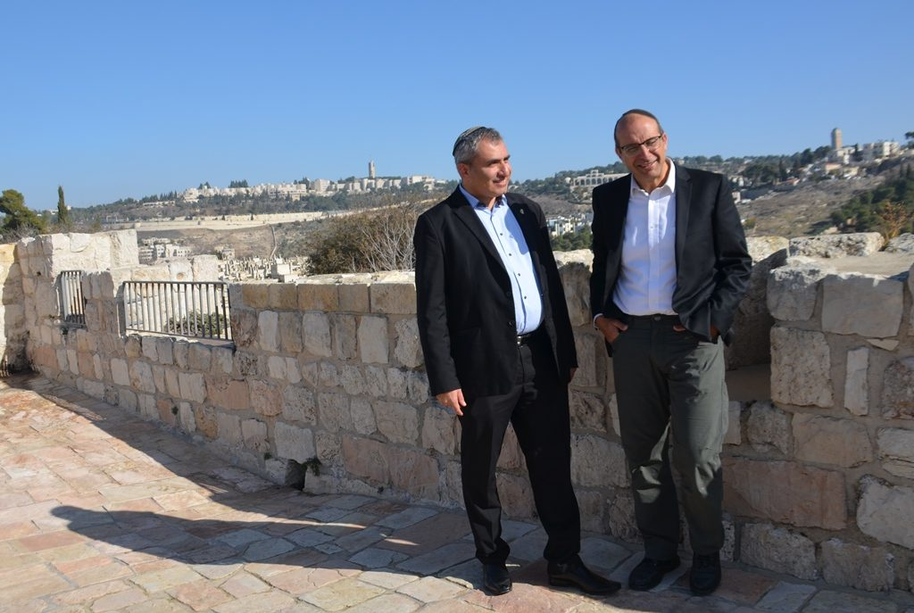 Minister of Jerusalem and Heritage MK Ze'ev Elkin