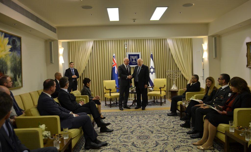 Australia Governor General David Hurley meets Israel President Reuven Rivlin