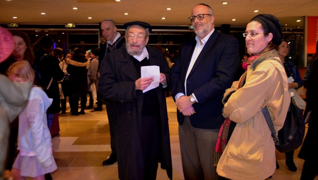 Rabbi Chaim Brovender at Siyum HaShas for women in Jerusalem