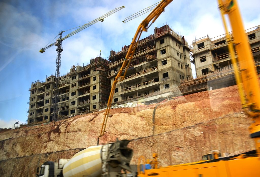 Construction in Jerusalem Israel