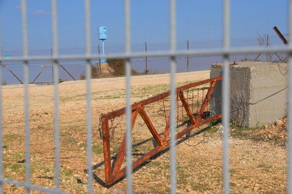 Israel Lebanon border fences