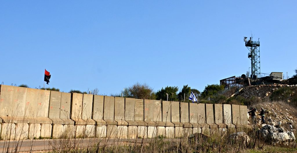 Separation wall near Lebanon Israel border
