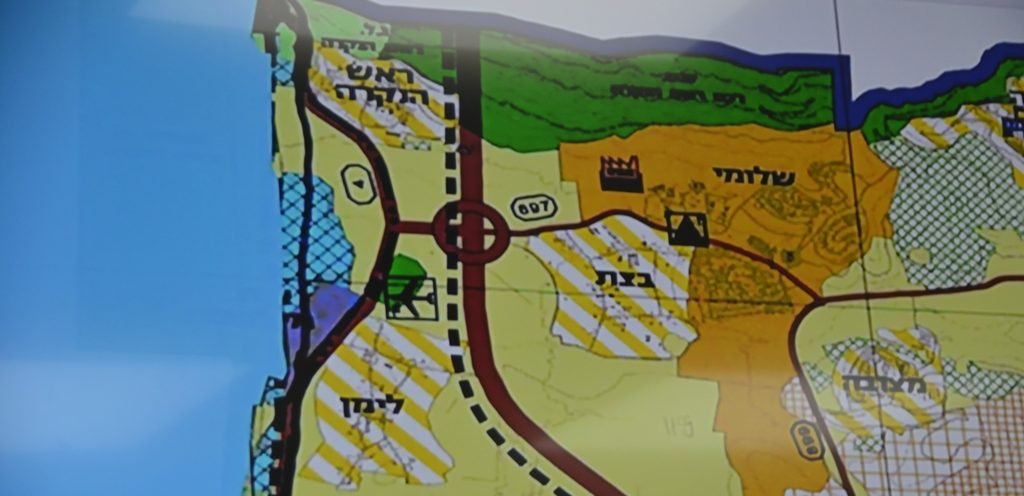 Map of upper Galilee Israel near Lebanon border