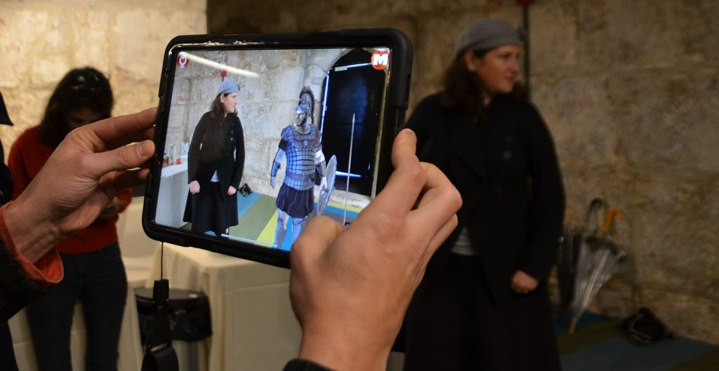 Tower of David Museum demonstration of MARS new tourist option using AR and MR