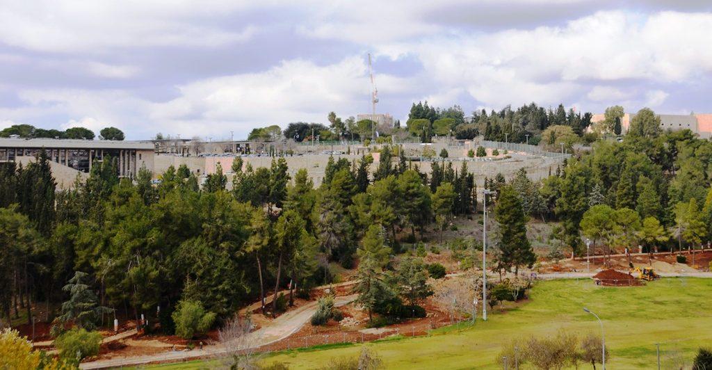 Gan Sacher Park with construction