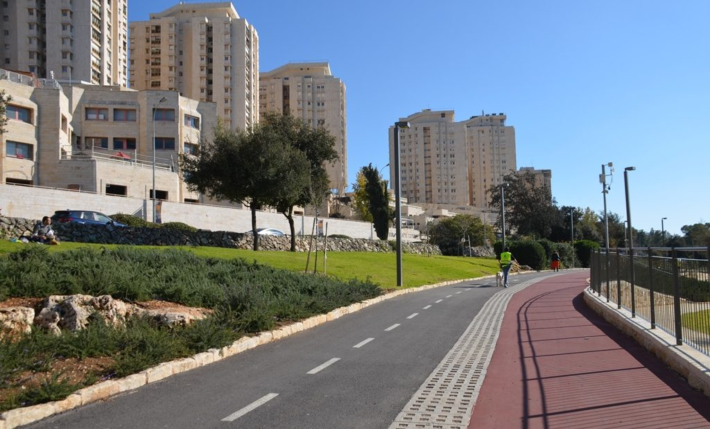 New paths in Jerusalem Israel Sacker Park