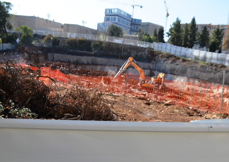 Digging for new project at site of old Kraft Stadium in Jerusalem Israel