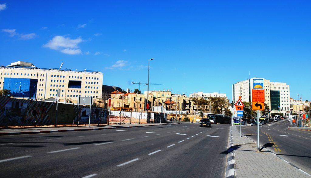 Jerusalem Israel street near entrance to city