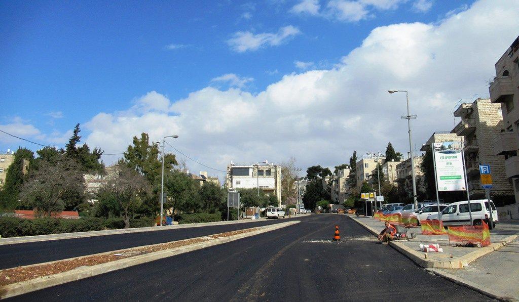 Jerusalem Israel street repaved
