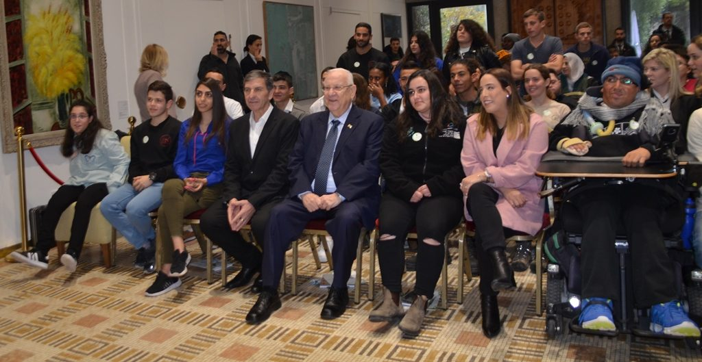 Tu B'Shvat JNF awardees at Beit Hanasi with President Rivlin