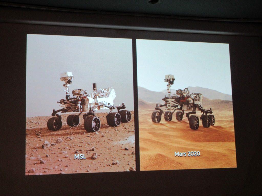 Mars exploration robot images