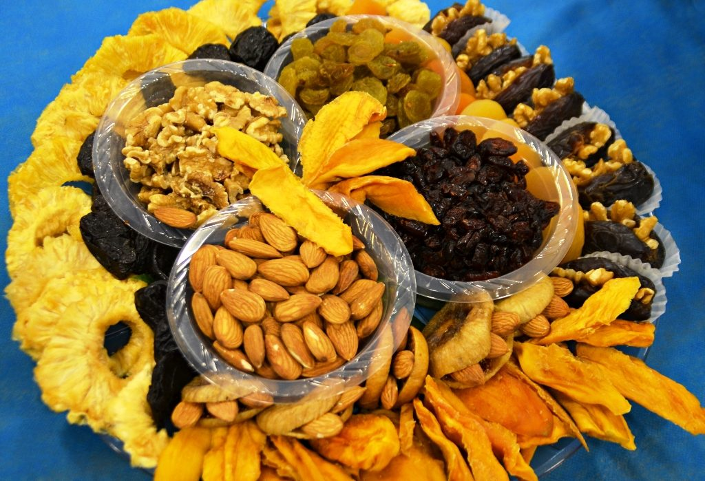 Tu Beshvat dried fruit and nut platter